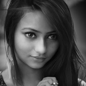 B&W by Anuruddha Das - People Portraits of Women ( sexy, girl, cute, portrait, photooftheday,  )