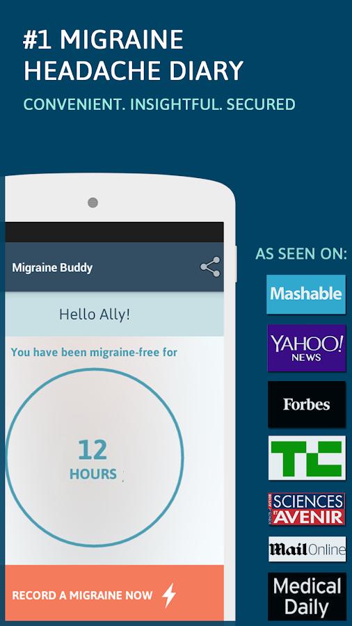 Migraine Buddy - screenshot