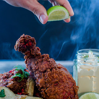 Crispy Tandoori Fried Chicken w/ Cumin & Garlic Aioli