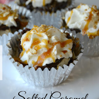 Salted Caramel Frozen Cupcakes.