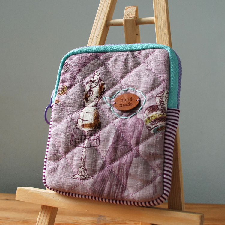 Handmade Portable Drive Protective Pouch by Midnight Seamstress