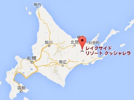 地図:レイクサイドリゾート クッシャレラ