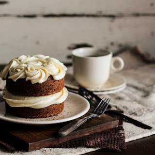 Black Tea Cake with Honey Buttercream.