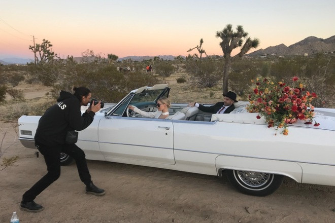 Gorgeous triple white Cadillac de ville convertible Hire Palm Springs