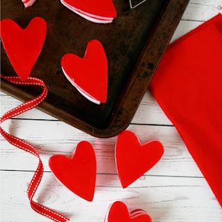 Layered Jell-O Hearts