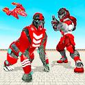 Gorilla Transform Robot: Fighter Jet Robot Battle icon
