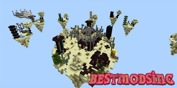 Скачать карту Скай варс для Minecraft 0.14.3