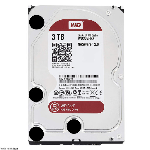 ổ cứng HDD NAS WD Red 3TB Sata3 5400rpm (WD30EFRX)