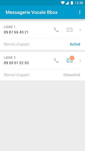 Messagerie Vocale Bbox  screenshots 1