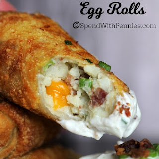 Loaded Mashed Potato Egg Rolls.