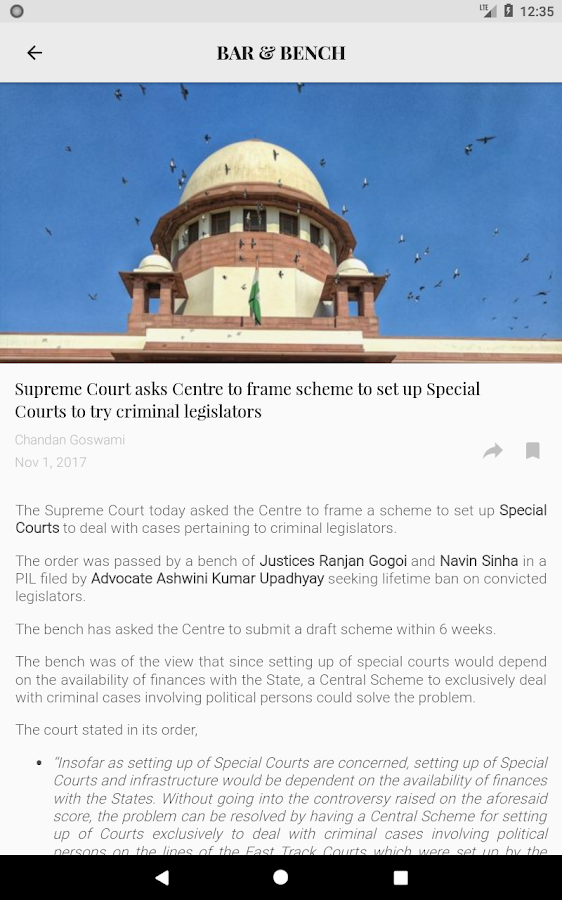 Bar & Bench - Indian Legal News- screenshot