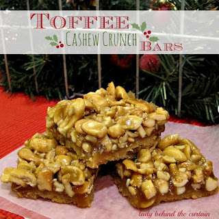 Toffee Cashew Crunch Bars