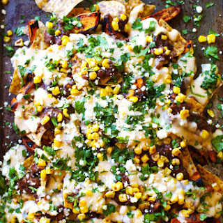 Healthy Grilled Sweet Potato Nachos.