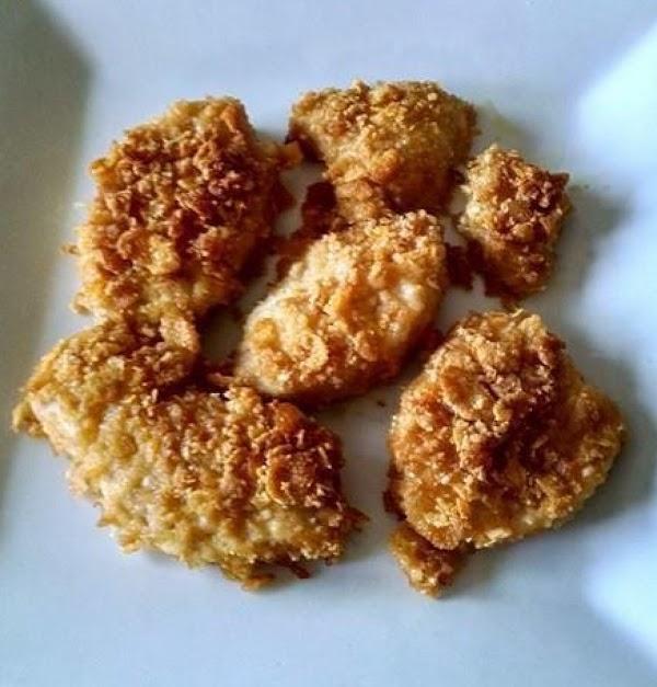 Cornflake Crusted Blue Gill Nuggets Recipe