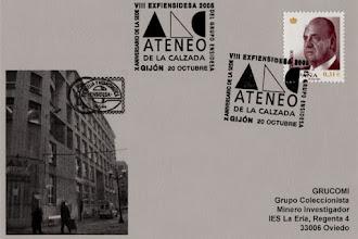 Photo: Matasellos de la VIII Exfiensidesa 2008 en el Ateneo de la Calzada de Gijón