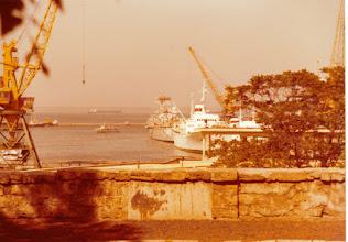 Photo: Sekä englantilaiset että ranskalaiset sota-alukset vierailivat Odessan satamassa.