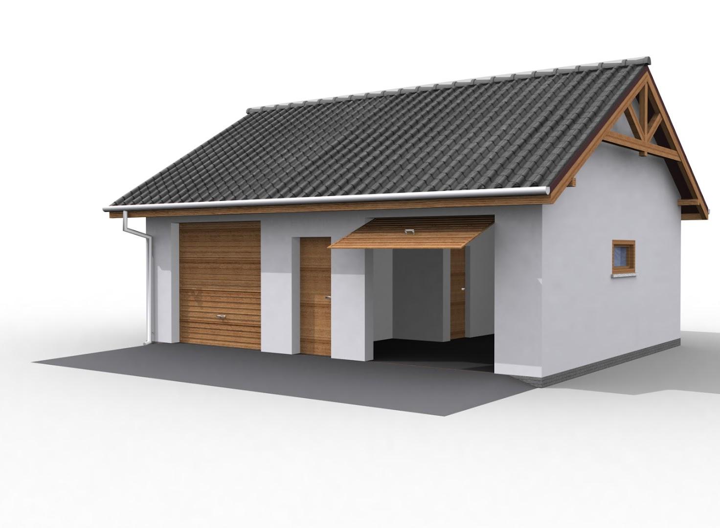 Projekt Garażu G11 Szkielet Drewniany Tsu 285 543m²