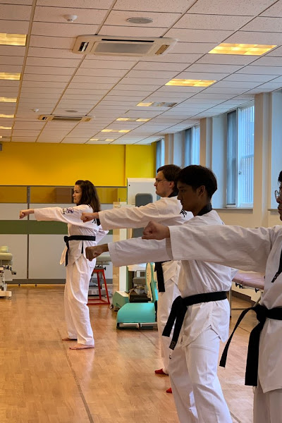 Students participate in martial arts demonstration while on Study Abroad Program in Daegu S.Korea