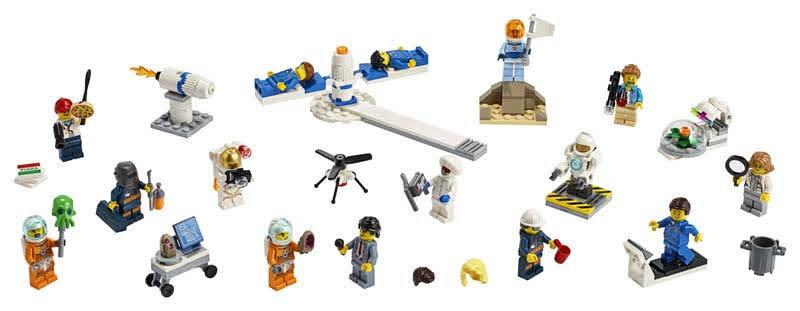 Contenido de Lego® 60230 Pack de Minifigura: Investigación y Desarrollo Espacial