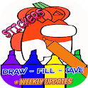 Real Impostor Coloring Book Maker with Stickers icon