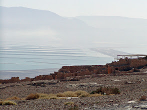 Photo: A view back towards the lower basin of the Dead Sea