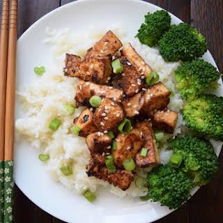 Asian Garlic Tofu.