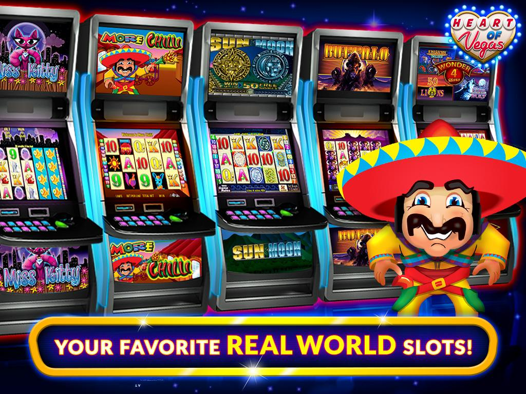 slots heart of vegas casino free slots