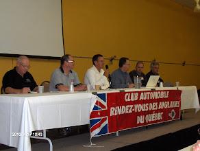 Photo: Le C.A. de la dernière saison: Michel Hebert, Robert MIchaud, François Gay, Gilles Deschenes, Nicolas Leroux, Alain Bourdeau.