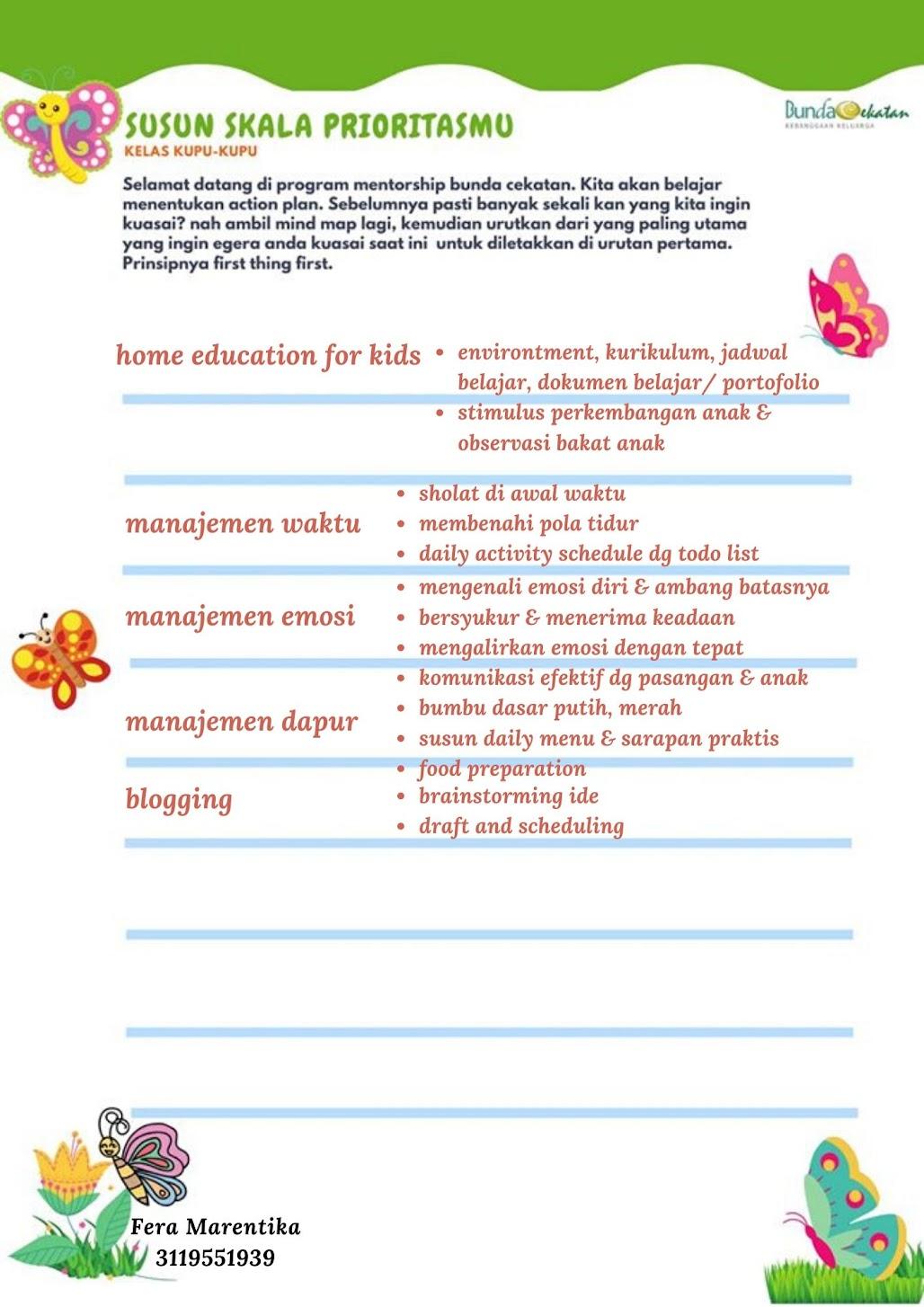 Jurnal Kupu-kupu 3: Membuat Rencana
