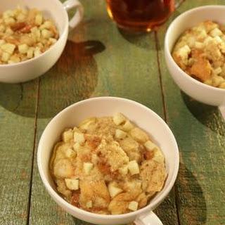 Apple Cinnamon Bread Pudding in a Mug.