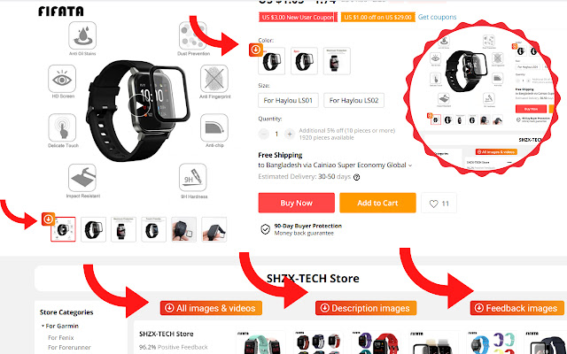 AliExpress Product Images & Videos Downloader