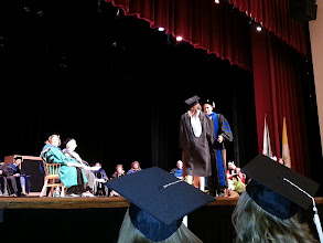 Photo: Prof. Hicks awards Jean