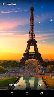 Paříž v noci Živá Tapeta - náhled