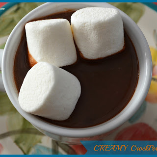 CREAMY CrockPot Hot Cocoa.