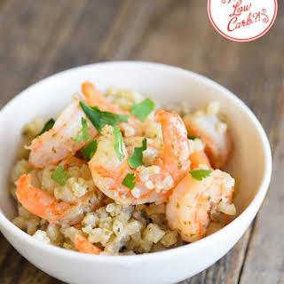 Low Carb Cauli-Rice Shrimp.