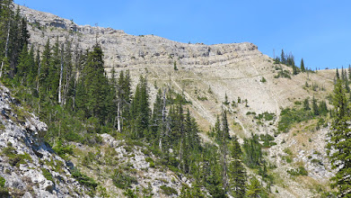 Photo: Mardi on the trail below the cliffs
