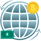 Cryptocoin arbitrage - USD profit version icon