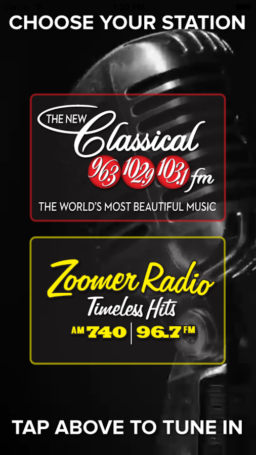 Classical & Zoomer Radio- screenshot