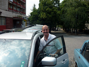 Photo: Our driver for the week :)  He drove the roads of Bulgaria very well thanks to our GPS!