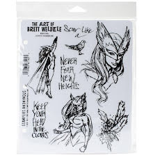 Stampers Anonymous Brett Weldele Cling Stamps 7X8.5 - Jenny Sparrow