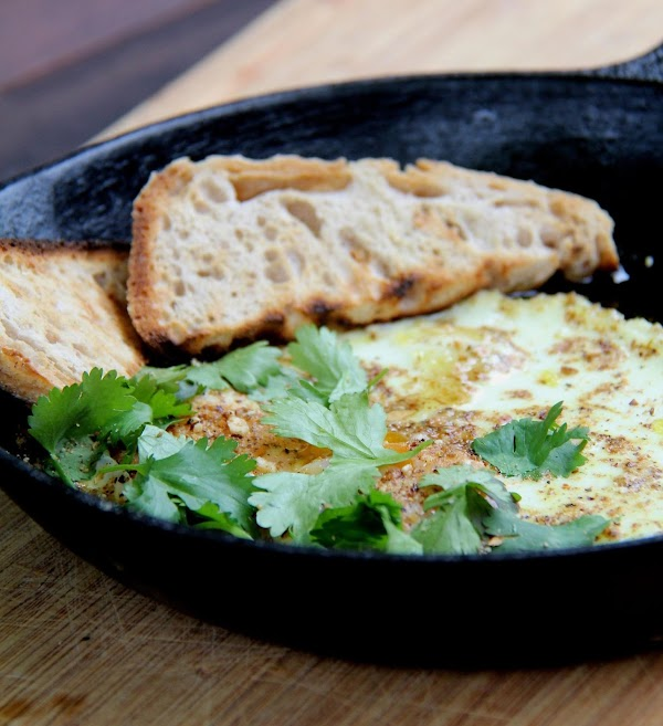 Oven Baked Eggs With Olive Oil & Dukkah Recipe
