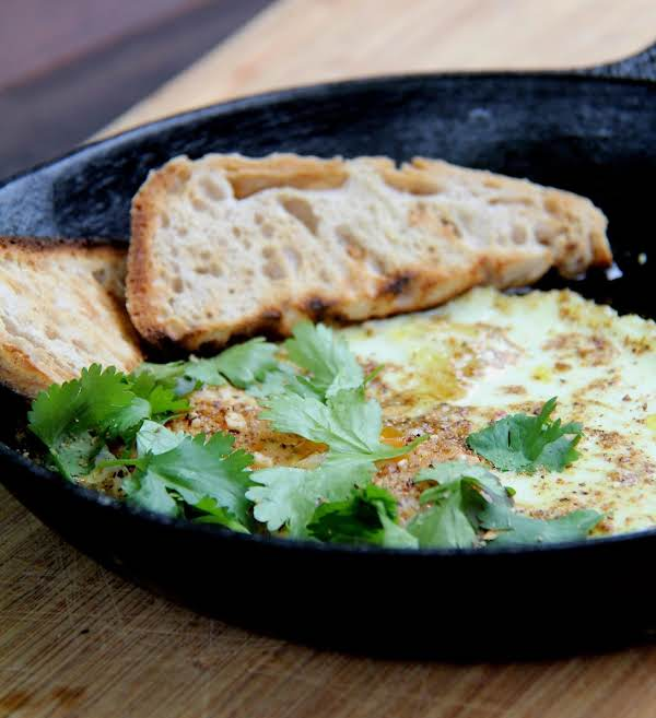 Oven Baked Eggs With Olive Oil & Dukkah