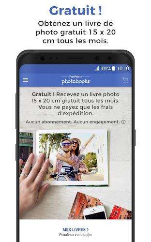 FreePrints Photobooks - Livres photo gratuits Android App Screenshot