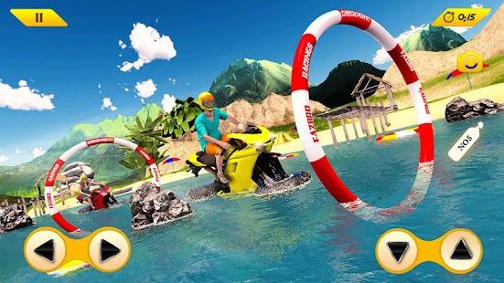 Water Surfer Bike Rider 3D – Biker Surfing SIM - náhled