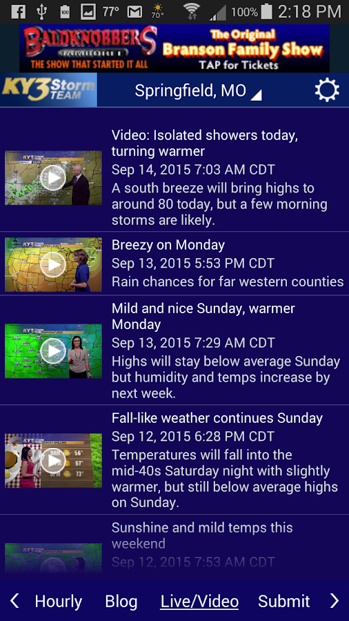 KY3 Weather- screenshot
