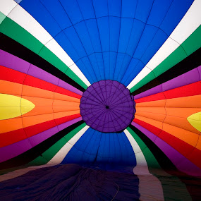 Hot air balloon patterns by Gale Perry - Abstract Patterns ( interior, hot air balloon, horizontal, inflating, multicolored,  )