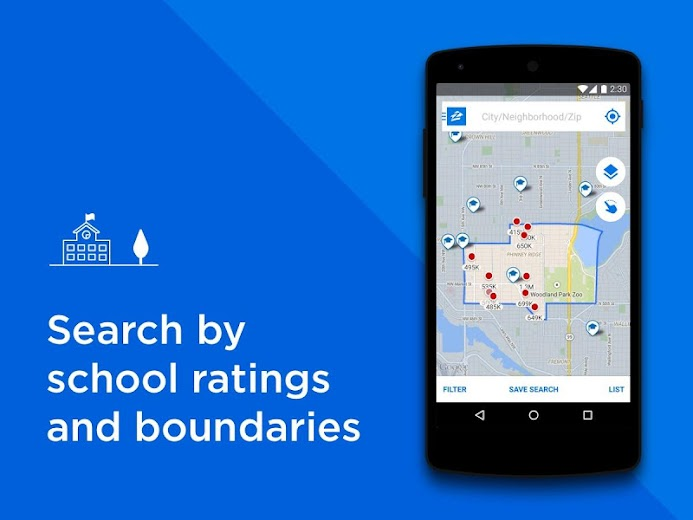 Screenshot 2 for Zillow's Android app'