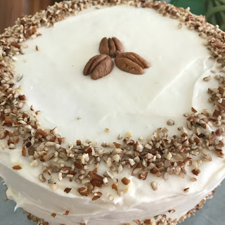 Italian Cream Cake with Nutty Cream Cheese Frosting.