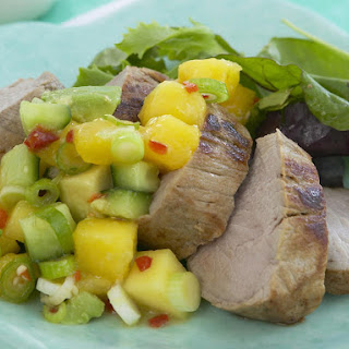 Pork Tenderloin with Spicy Mango Salsa