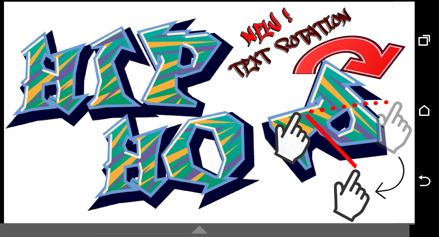 Graffiti creator phone - Graffiti Maker Screenshot